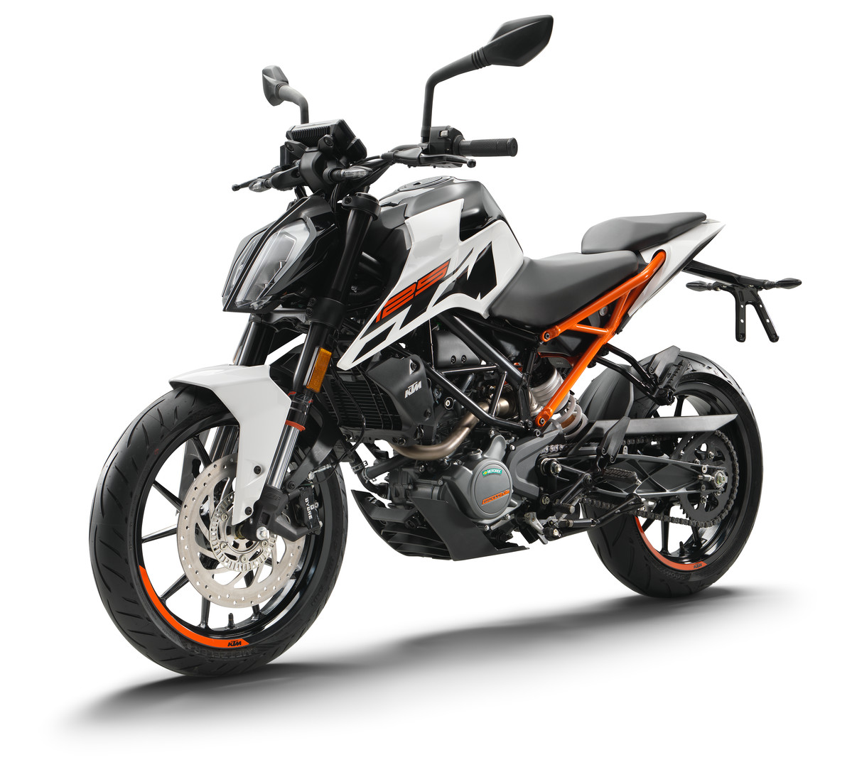 2017 duke 125 white new ktm bikes triple d motosport. Black Bedroom Furniture Sets. Home Design Ideas