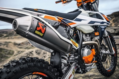 After-market exhaust for KTM offroad bike