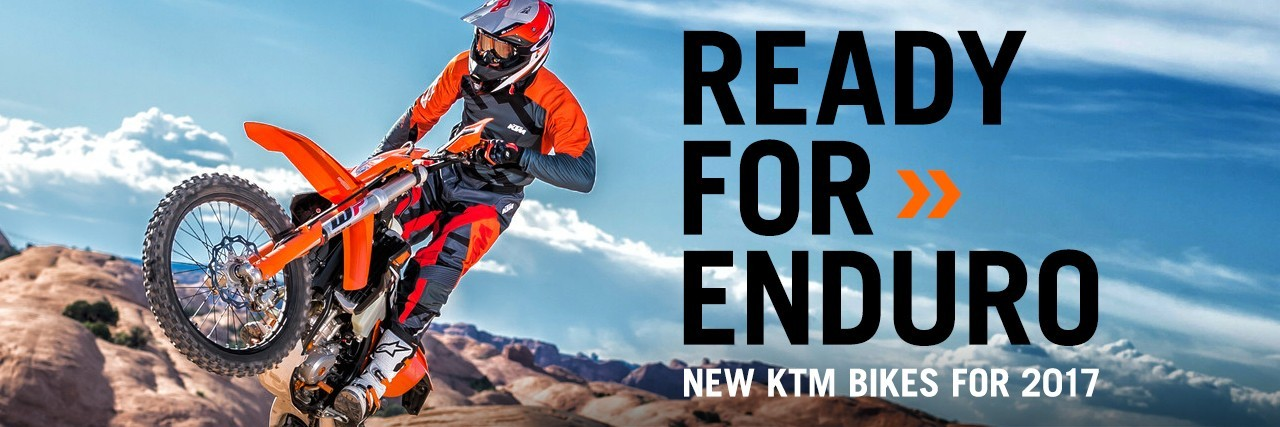 Ready for 2017 with new Enduro bikes from KTM at Triple D
