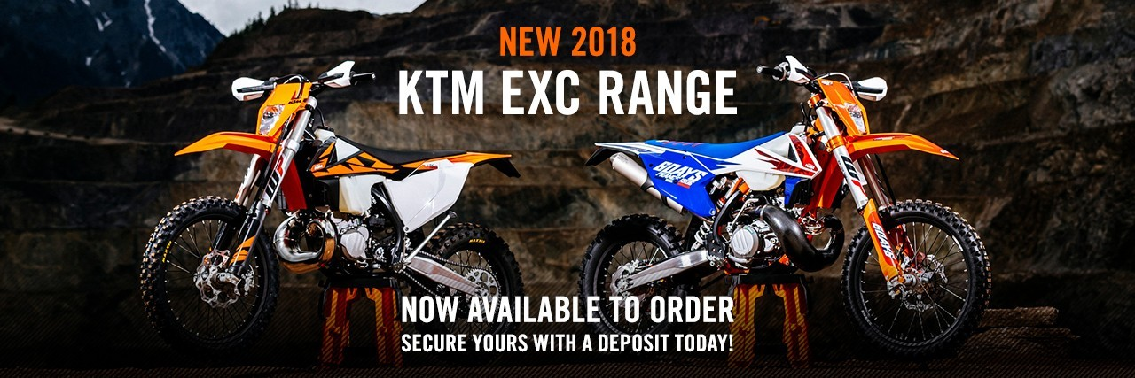NEW 2018 KTM ECX range NOW AVAILABLE TO ORDER