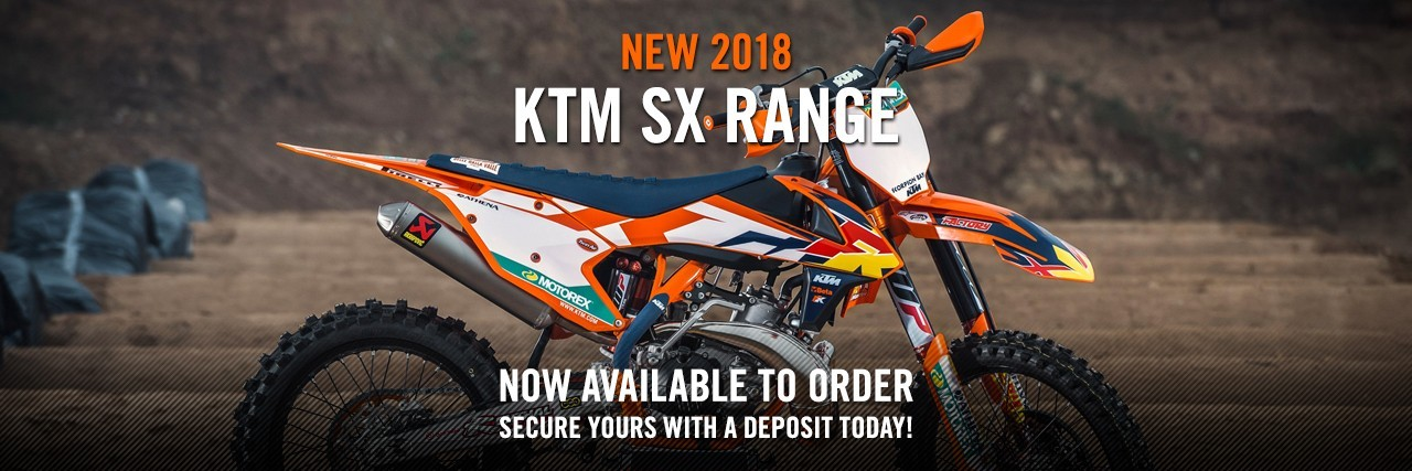 NEW 2018 SX range NOW AVAILABLE TO ORDER