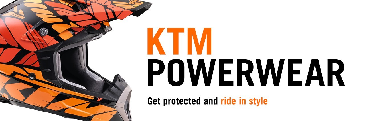 Get protected and ride in style with KTM PowerWear