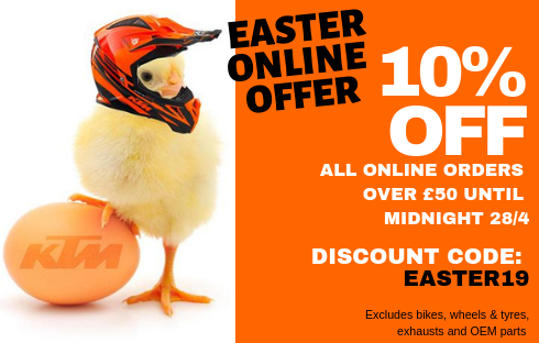 Easter Offer 10% off KTM