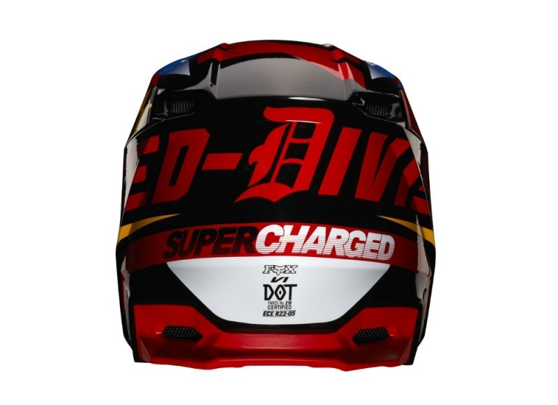FOX CZAR YOUTH HELMET REAR