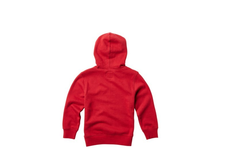 FOX YOUTH THROWBACK PULLOVER RED REAR