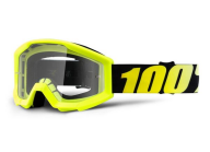100% YOUTH STRATA GOGGLE NEON YELLOW CLEAR LENS