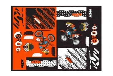 2021 KTM TEAM GRAPHIC STICKER SHEET