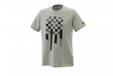 2021 KTM RADICAL SQUARE TEE GREY MELANGE