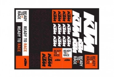 2021 KTM TEAM CORPORATE STICKER SHEET