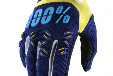 100% AIRMATIC GLOVES NAVY YELLOW