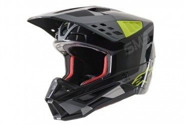 ALPINESTAR SM-5 ANTHRACITE/YELLOW HELMET