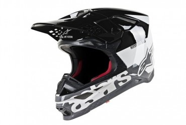 SUPERTECH S-M8 HELMET RADIUM WHITE/BLACK/GREY