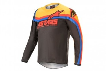 2021 YOUTH RACER VENOM JERSEY BLACK/RED/ORANGE
