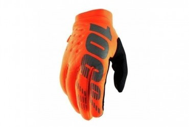 100% Brisker Gloves Orange