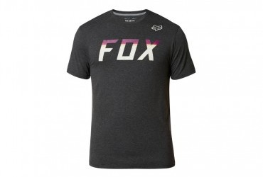 Fox On Deck SS Tech Tee Heather Black