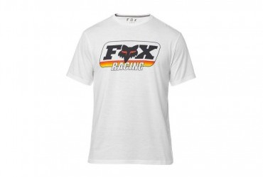 FOX THROMBACK SS TECH TEE OPTICAL WHITE