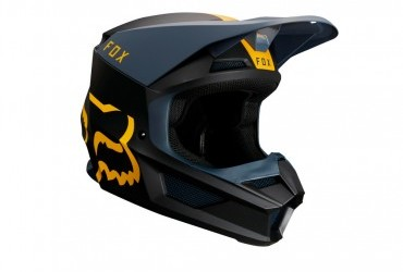 FOX V1 MATA HELMET NAVY YELLOW