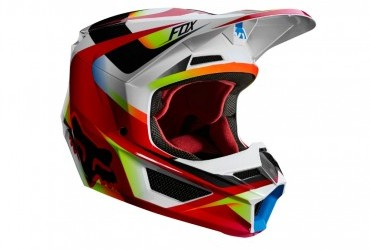 FOX V1 MOTIF HELMET RED