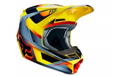 FOX V1 MOTIF HELMET YELLOW