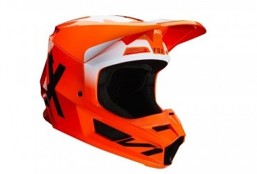 FOX V1 Werd Helmet Flo orange rhs