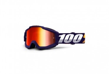 100% ACCURI GRIB GOGGLE WITH RED MIRROR LENS