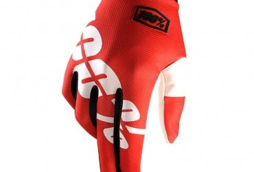 100% ITRACK GLOVES FIRE RED