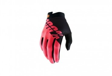 100% ITRACK GLOVE FLURO RED/PINK