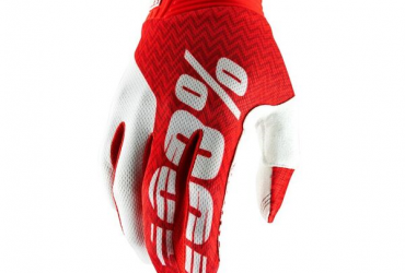 100% ITRACK GLOVE RED WHITE