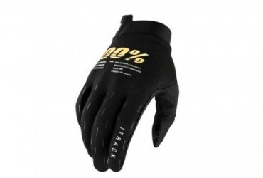 100% Youth iTrack Black Gloves