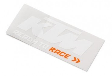 LOGO STICKER (white/orange)