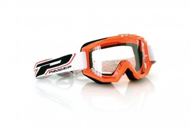 PRO GRIP RACE LINE GOGGLES 3201 ORANGE/CLEAR