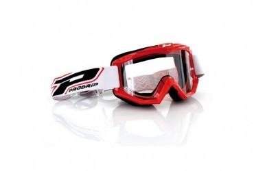 PRO GRIP RACE LINE GOGGLES 3201 RED/CLEAR