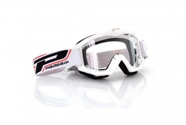 PRO GRIP RACE LINE GOGGLES 3201 WHITE/CLEAR