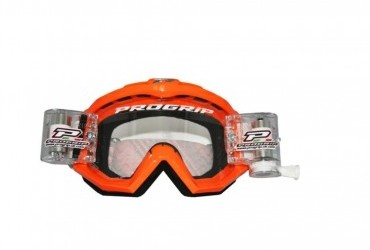 PRO GRIP RACE LINE GOGGLES 3201 + 48MM RNR ROLL OFF ORANGE/CLEAR