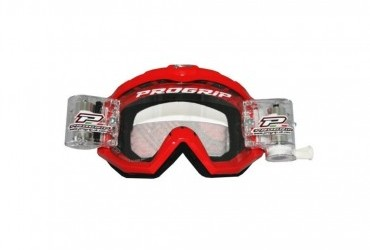 PRO GRIP RACE LINE GOGGLES 3201 + 48MM RNR ROLL OFF RED/CLEAR