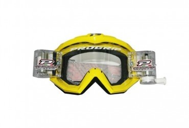 PRO GRIP RACE LINE GOGGLES 3201 + 48MM RNR ROLL OFF YELLOW/CLEAR