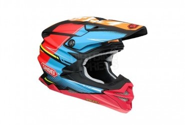 Shoei VFX-WR Zinger Blue Orange Red TC10 Helmet RHS