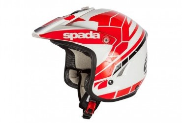 SPADA CHASER TRIALS HELMET RED