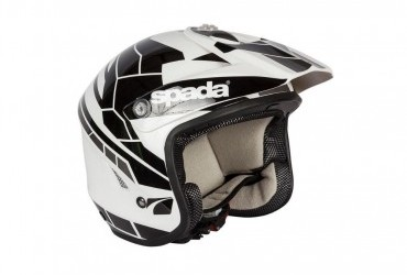 SPADA CHASER TRIALS HELMET BLACK/WHITE