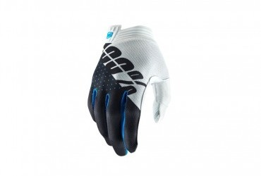 100% ITRACK GLOVE WHITE STEEL GREY