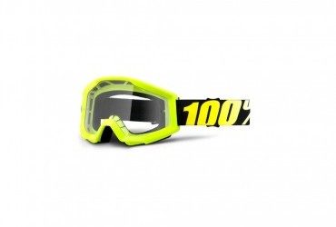 100% STRATA NEON YELLOW CLEAR LENS