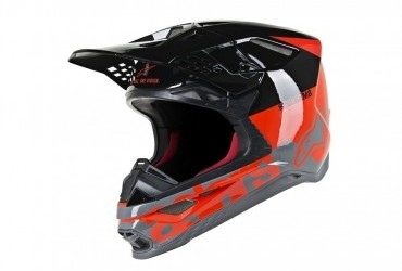 SUPERTECH S-M8 HELMET RADIUM RED/BLACK/GREY