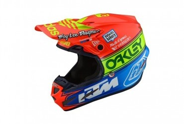 TROY LEE DESIGNS SE4 COMPOSITE HELMET TEAM EDITION 2 ORANGE/BLUE