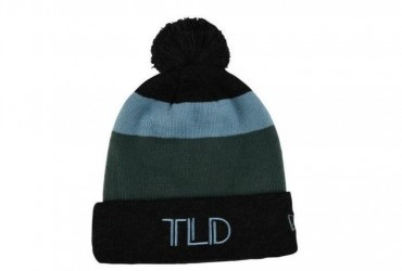 TROY LEE DESIGNS POM BLOCK BEANIE CHARCOAL/STONE BLUE