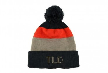 TROY LEE DESIGNS POM BLOCK BEANIE CHARCOAL/COBBLESTONE