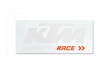 KTM Van Sticker White Orange