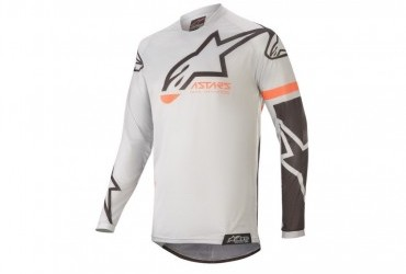 ALPINESTARS 2020 RACER TECH COMPASS JERSEY LIGHT GREY/BLACK
