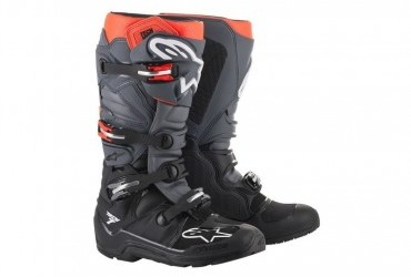 ALPINESTARS TECH 7 ENDURO BOOT BLACK/GREY/RED FLUO