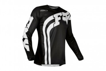 FOX 180 COTA JERSEY BLACK FRONT