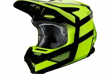 FOX V2 Hayl Helmet flo yellow